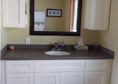 Custom Bathroom Cabinets - Ivory Vanity
