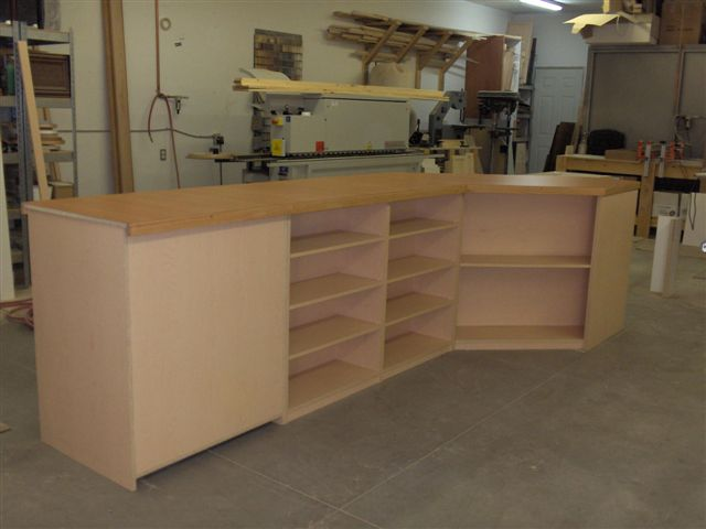 commercial custom service counter