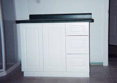 Custom Bathroom Cabinets - White Vanity