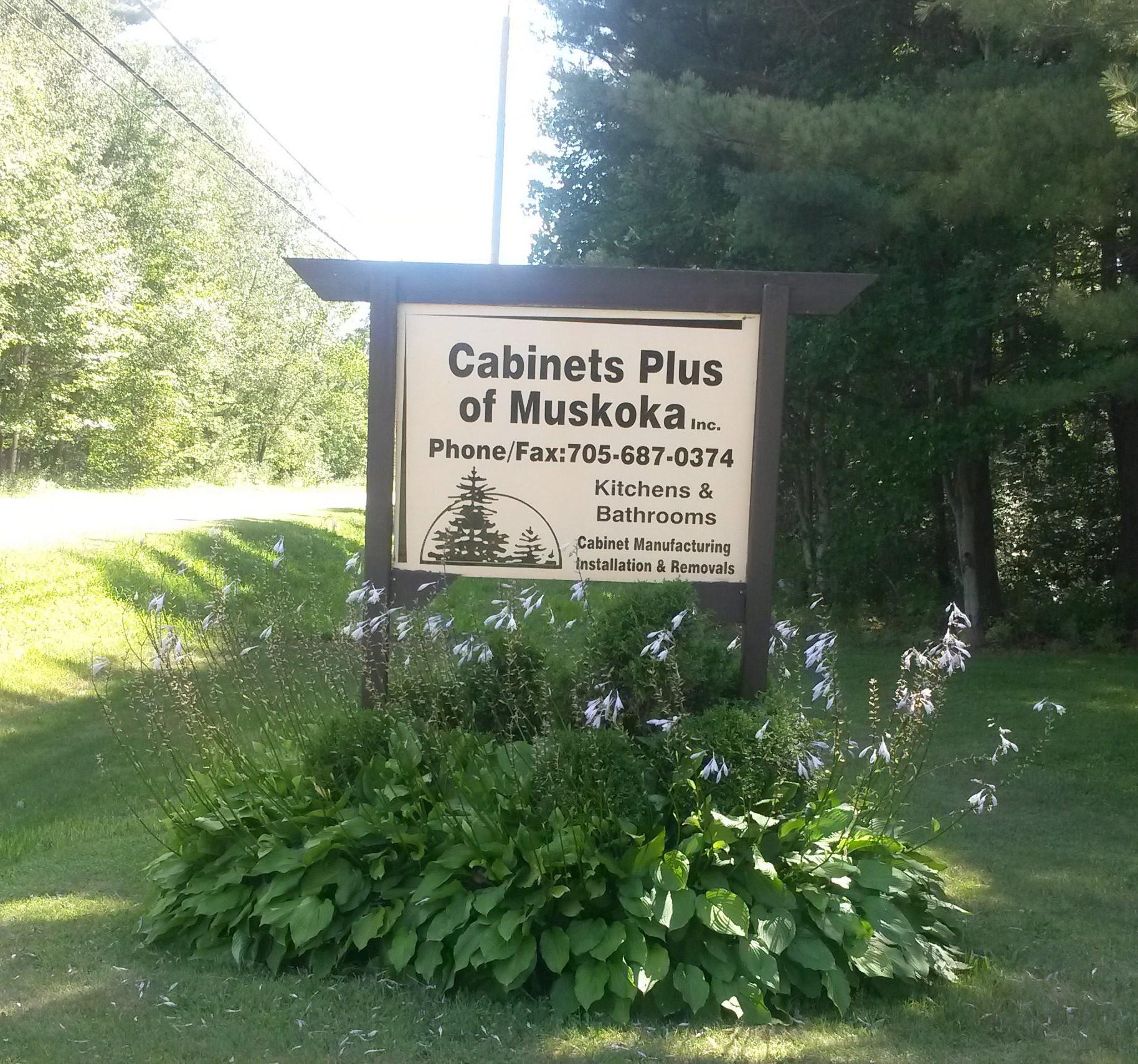 Cabinets Plus of Muskoka sign